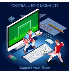 Football 01 People Isometric vector image vector image
