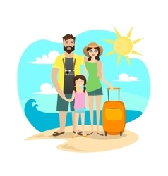 Happy Family Traveling vector image vector image