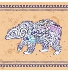 Tribal hand drawn totem bear vector image vector image