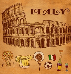 Coliseum hand drawn isolated vector