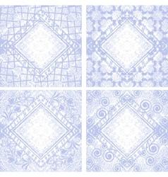 floral jeans background vector image