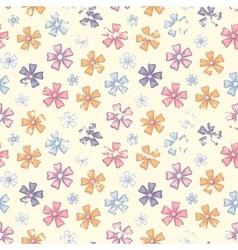Grunge flower pattern vector image
