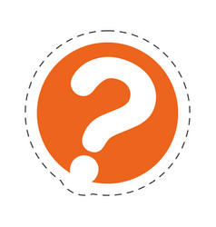 question mark communication image vector image