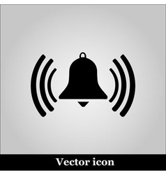Ringing bell on grey background vector image