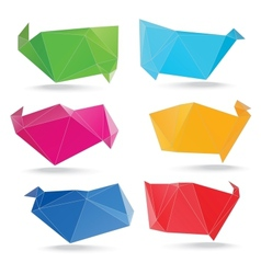 trendy crystal triangle banner shapes vector image vector image