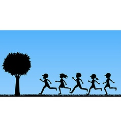 Children running vector image vector image
