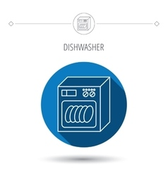 Dishwasher icon Kitchen appliance sign vector image vector image
