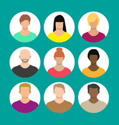 people face avatar icon cartoon character vector image