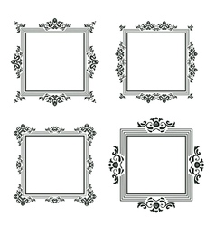 vintage frame set three vector image