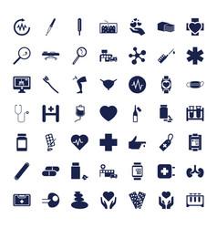 49 medicine icons vector