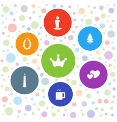 7 decoration icons vector