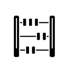 Abacus - math icon black vector