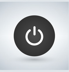 abstract power button for websites ui vector image