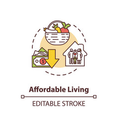 Affordable living concept icon vector