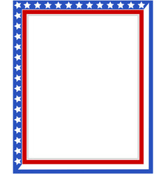 American patriotic border vector