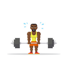 Athlete doing deadlift vector