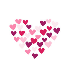 Background with hearts heart vector
