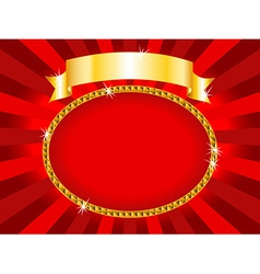 Billboard red and gold vector