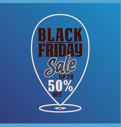 black friday banner or background for promotion vector image
