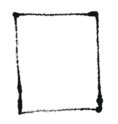 Black grunge frame isolated on the white vector image