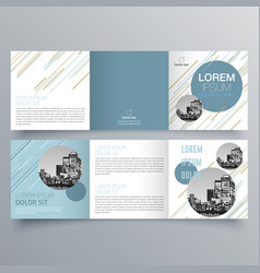 brochure design 957 vector image