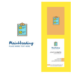 check list creative logo and business card vector image