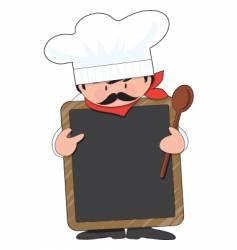 Chef board vector