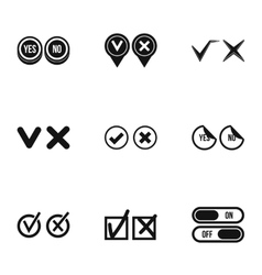 Choice icons set simple style vector