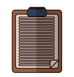 Clipboard with sheet icon image vector