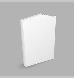 closed white book vector image