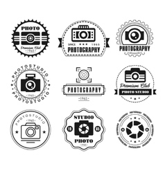 Collection photography logo templates vector
