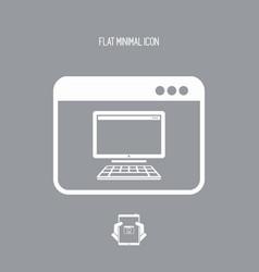 Computer remote control app - flat minimal icon vector