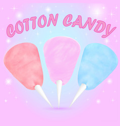 cotton candy set of different colors vector image