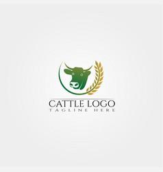 Cow farm icon template cattle farm symbol vector
