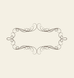 decorative vintage frame on white background vector image