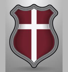 denmark orlogsflaget variant flag badge and icon vector image