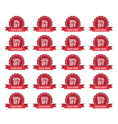 Discount labels set sale tag offer price vector