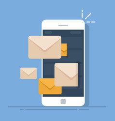 dispatch of emails from a mobile phone mail vector image vector image