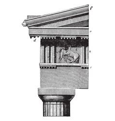 Doric order frieze parthenon at athens vector