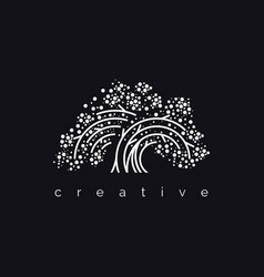 Elegant tree logo vector