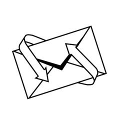 Envelopes mail isolated icon vector
