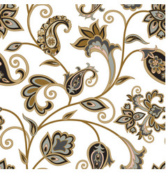 Floral pattern flourish oriental ethnic vector