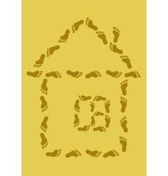 Footprint house vector