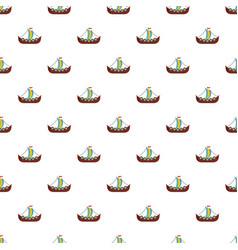 Frigate pattern seamless vector
