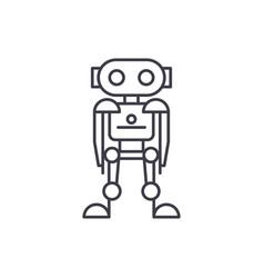 future robot line icon concept future robot vector image