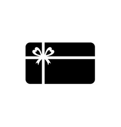 Gift card icon gift certificate symbol vector