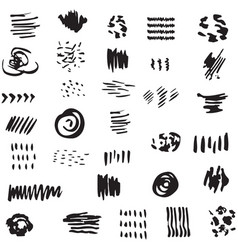 hand drawn scribble symbols vector image