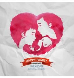 Happy family logo design template motherhood vector