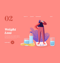 Healthy lifestyle dieting landing page template vector