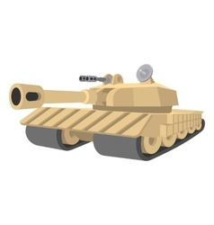 Heavy tank cartoon icon vector